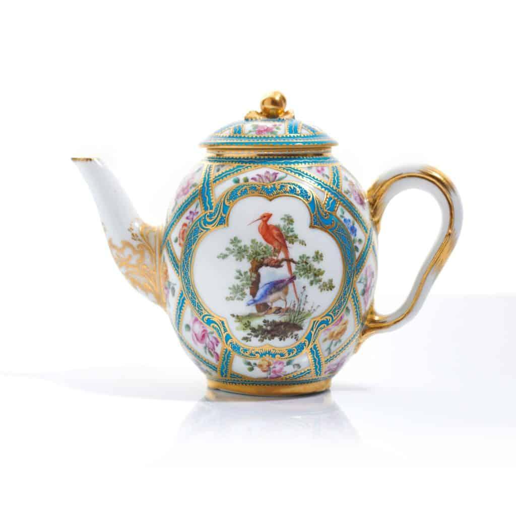 Rare Art Noveau Sevres porcelain antique teapottisani\u00e8re from 1800\u2019s