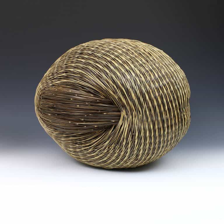 Bamboo sculpture by Chikuunsai IV Tanabe