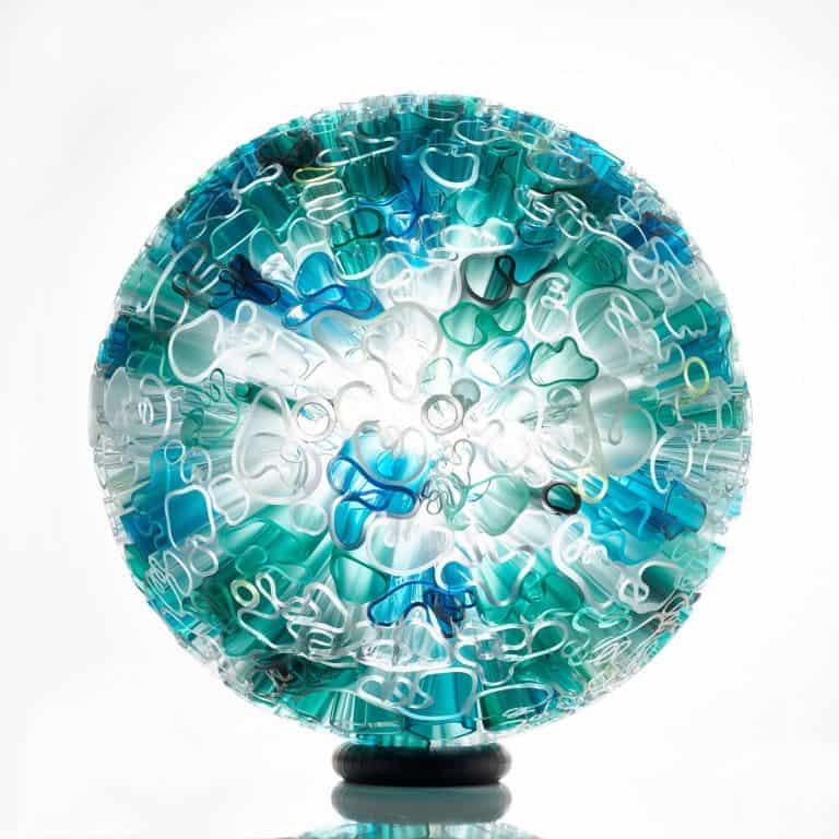 Glass sculpture by Jeannet Iskandar