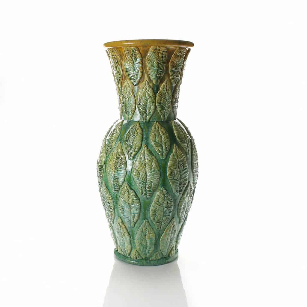 Crewel Stitched Leaf Vase 2017 Adrian Sassoon