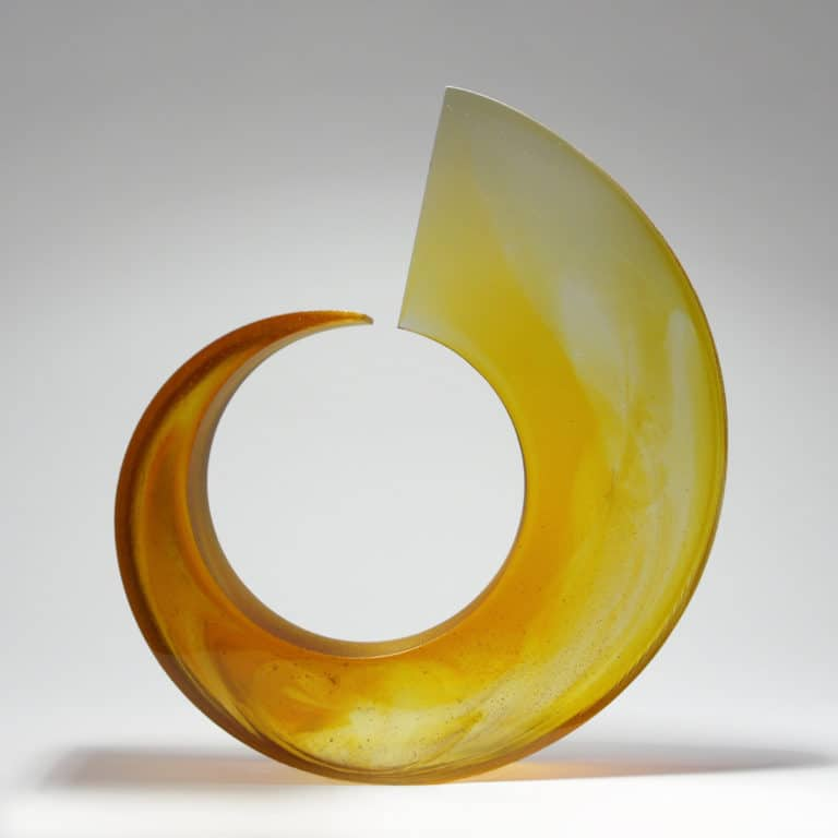 Glass sculpture by Galia Amsel