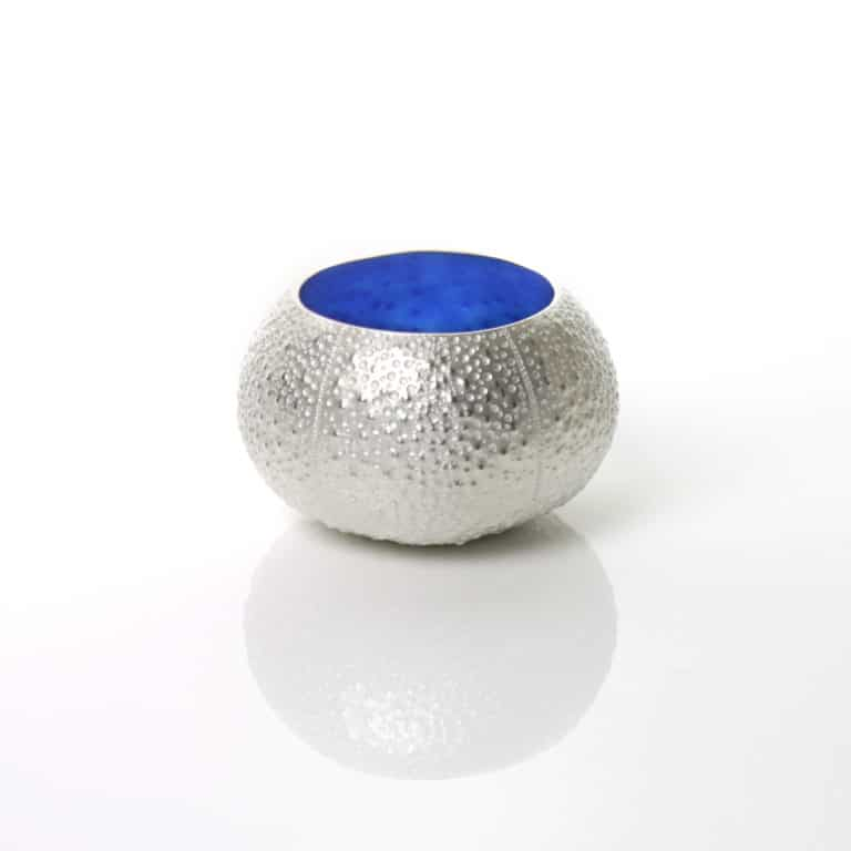 Silver and enamel sculpture by Cara Murphy
