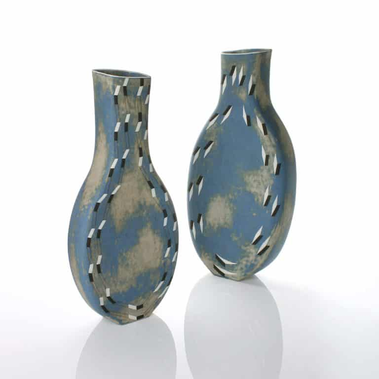 Pair of Elizabeth Fritsch vases