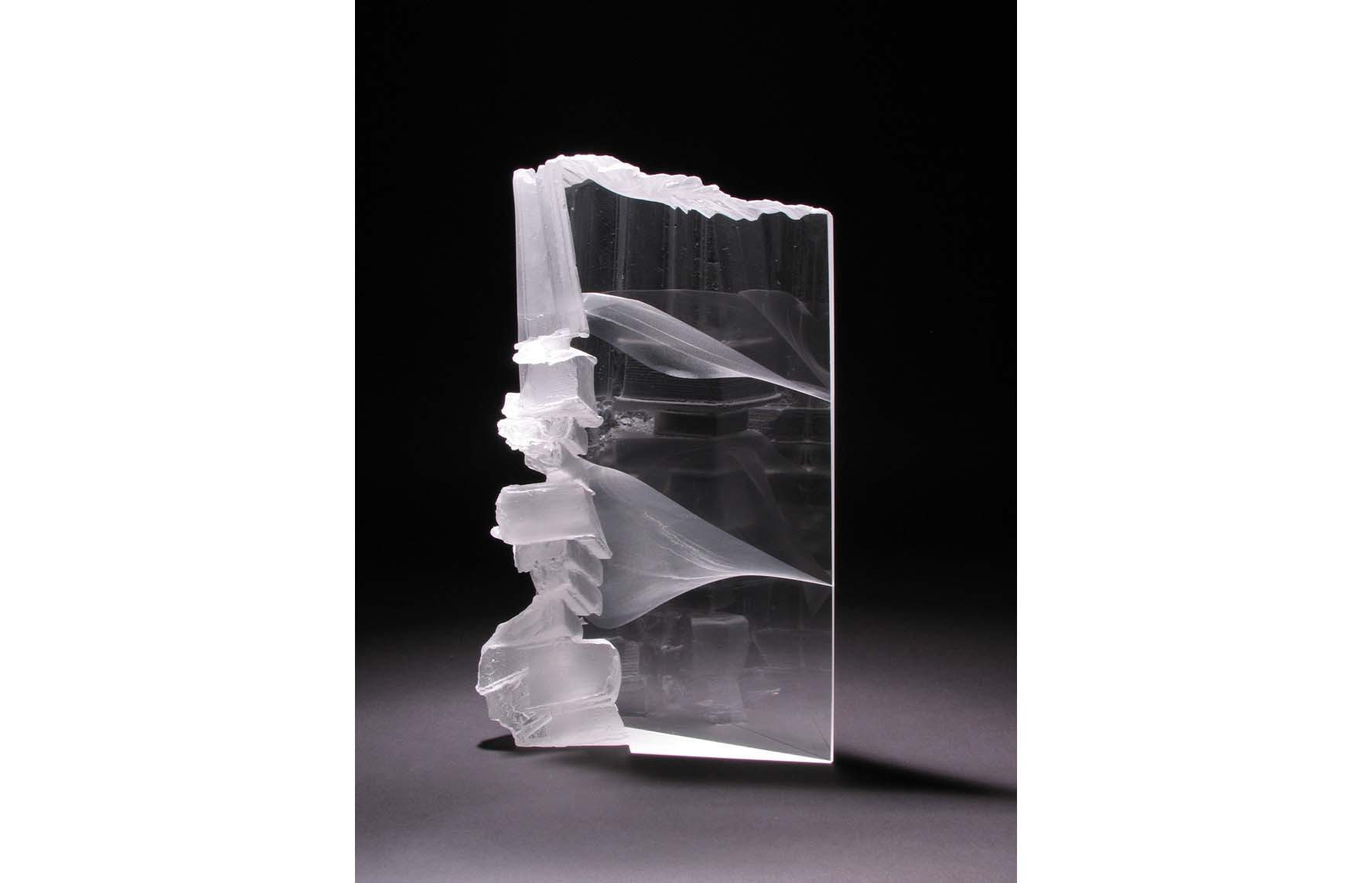Glass sculpture by Colin Reid