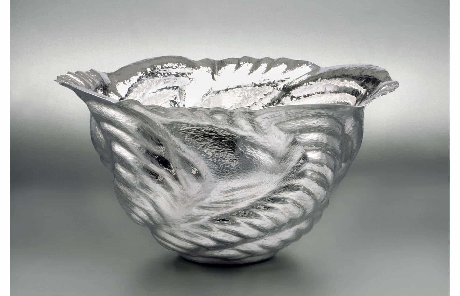Silver sculpture by Ndidi Ekubia