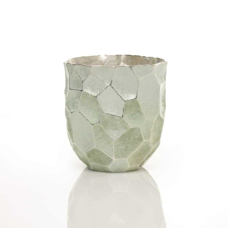 Silver and enamel sculpture by Hiroshi Suzuki