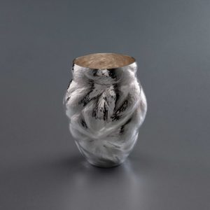 Silver sculpture by Ndidi Ekubia