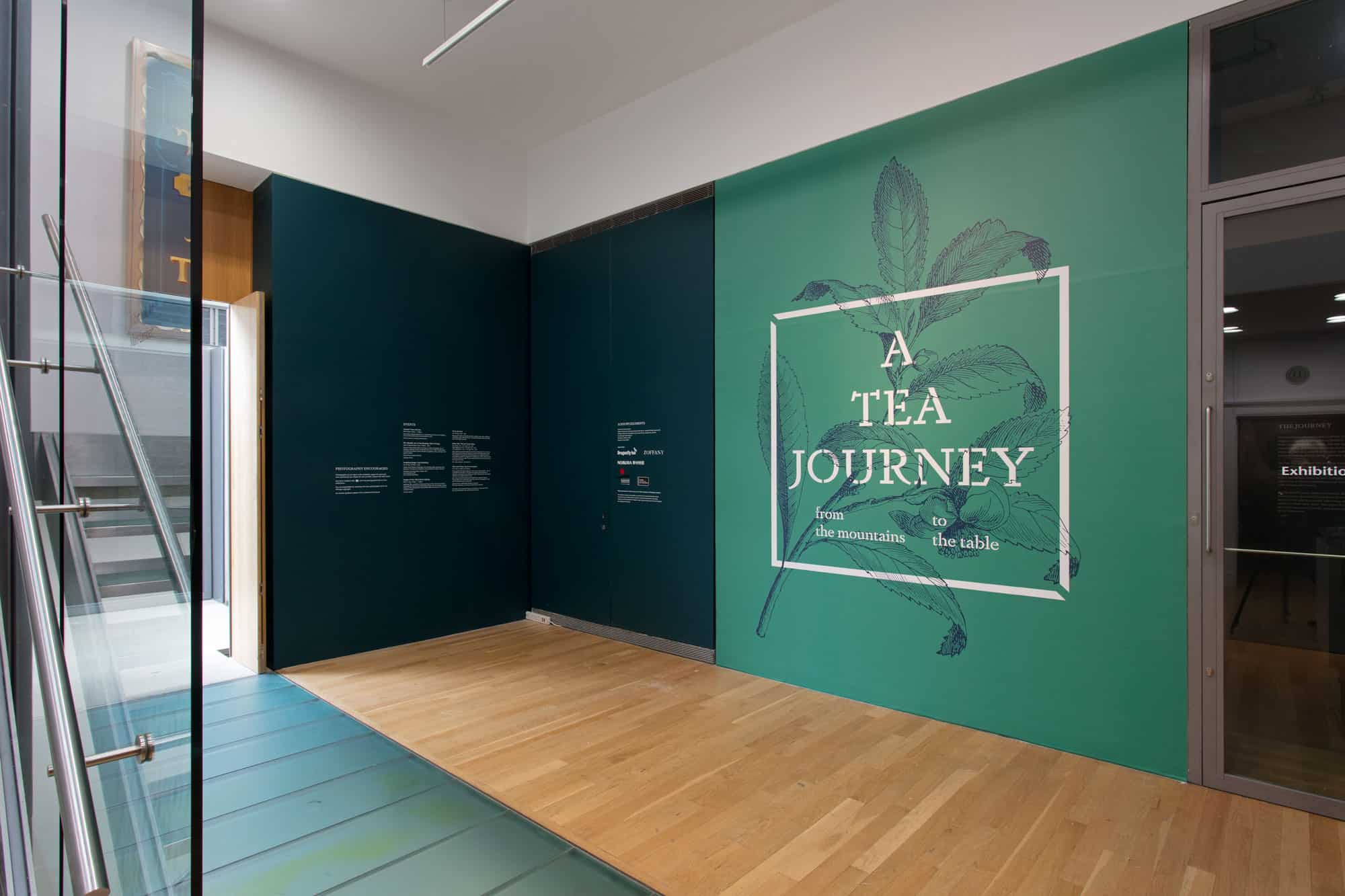 Install images of A Tea Journey: From the Mountains to the Table held at Compton Verney