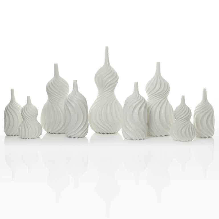 A Garniture of Nine Spiral Vases, 2019