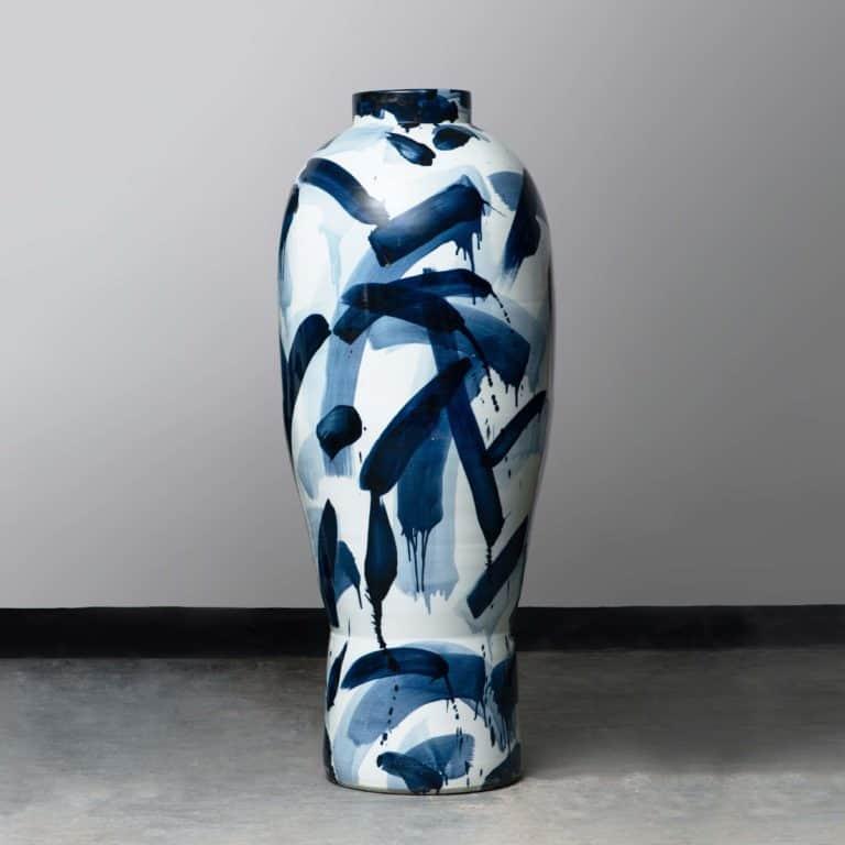 A Blue & White Monumental Vase, 2019