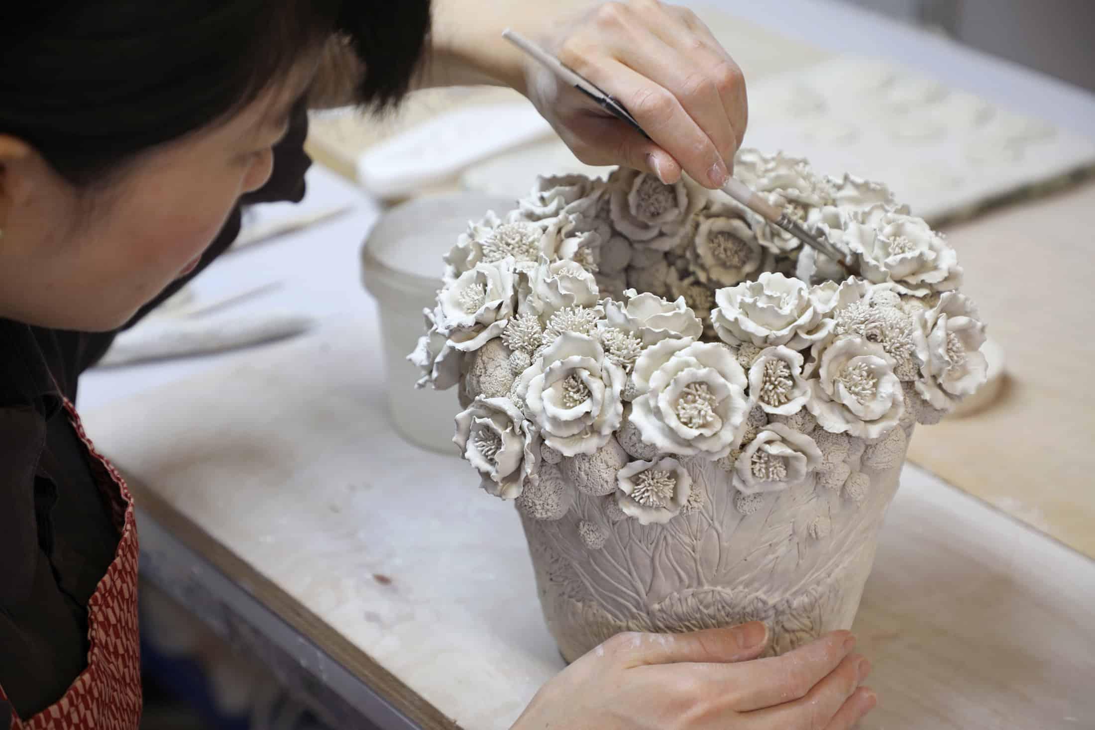 Hitomi Hosono in her studio
