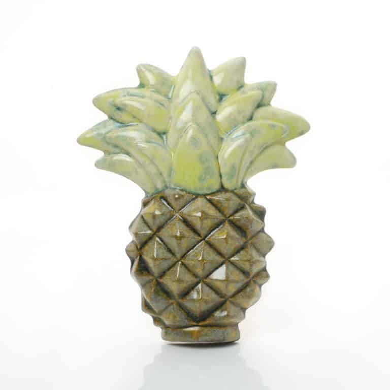 Kate Malone's A Small Wall Pineapple, decorative ceramic sculpture, Crystalline-glazed stoneware