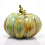 Kate Malone A Mottled Pumpkin sculpture, 2020 Crystalline-glazed stoneware