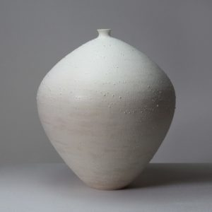 Takahiro Kondo Mist, 2020 Porcelain vase with silver mist over-glaze Made by the artist in Japan