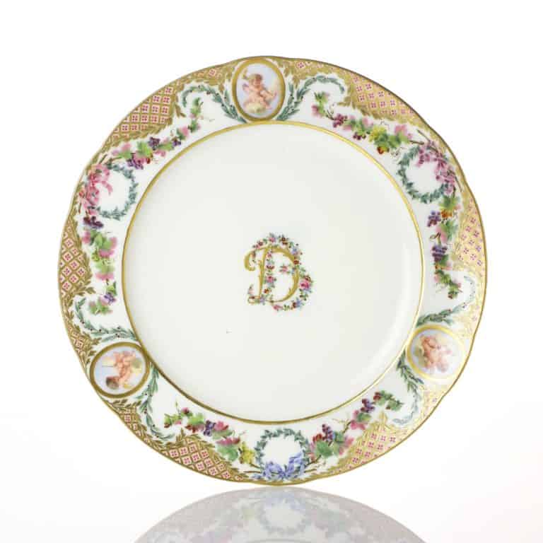 A Sevres plate, 1770