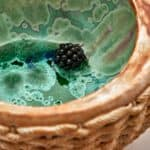 Detail of Kate Malone A Basket of Blackberries, 2020 Crystalline-glazed stoneware