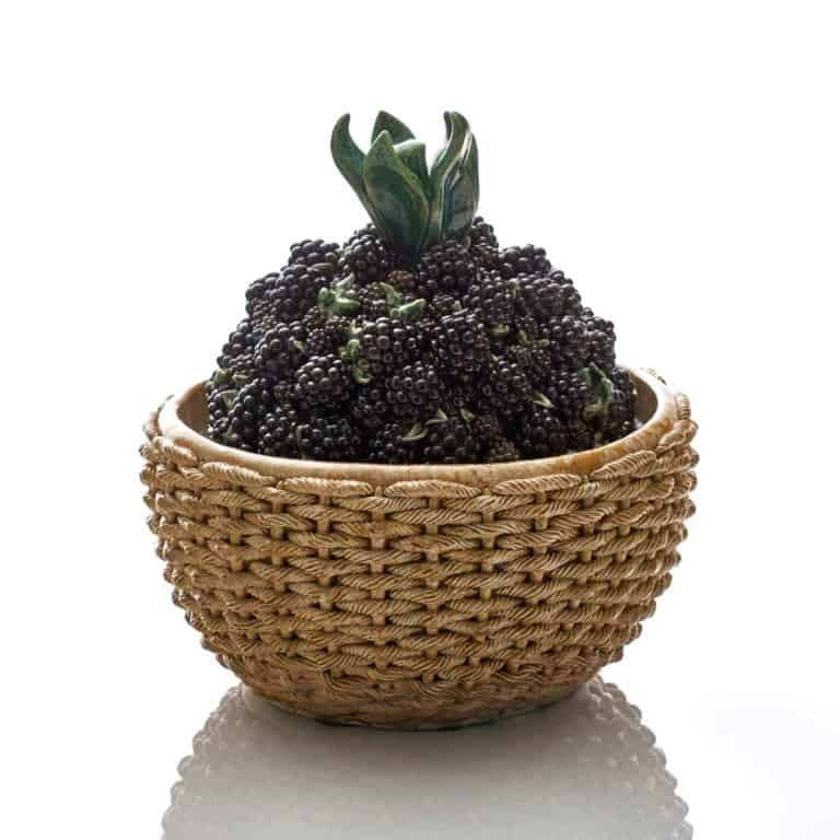 Kate Malone A Basket of Blackberries, 2020 Crystalline-glazed stoneware