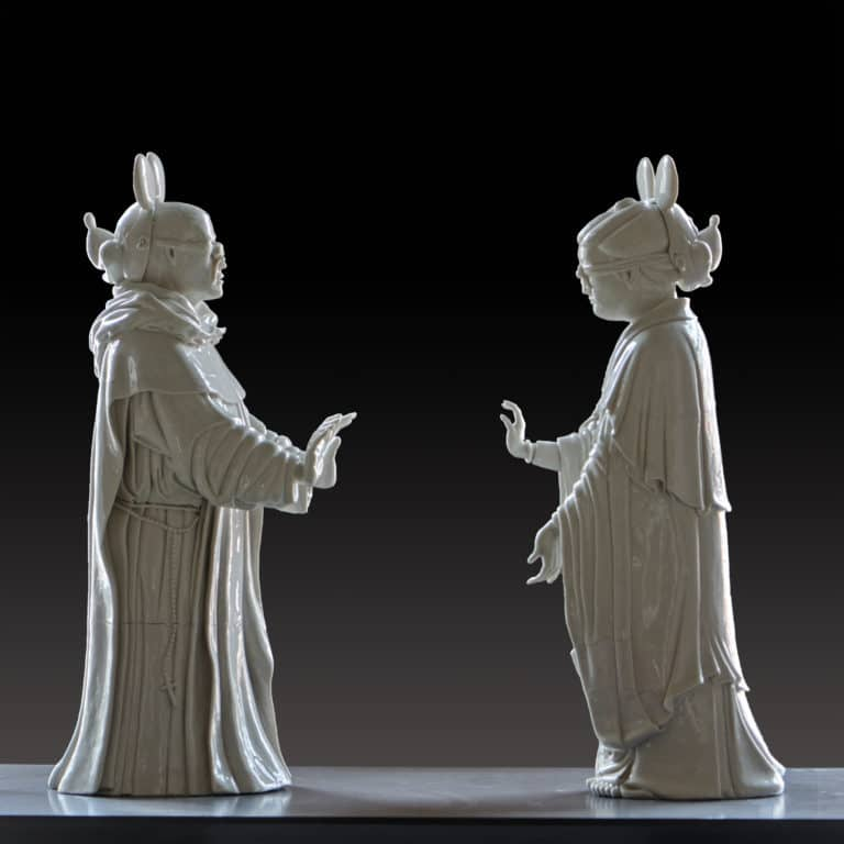 Enrique Perezalba Red Noli Me Tangere (Touch Me Not), 2020 Hand-built and glazed porcelain H.24 3/8 W.30 3/8 D.9 in