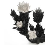 Junko Mori Botany Series; Berries, 2019 Wax-coated mild steel, patinated bronze, fine silver 999 (2,320g silver)