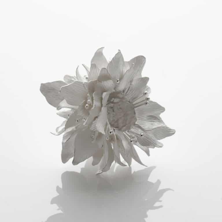 Junko Mori Silver Organism; Sakura Dew, 2020 Forged Fine silver 999, 330g