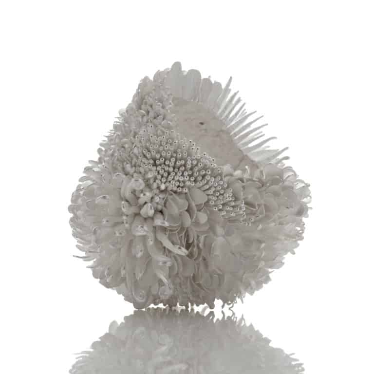 Junko Mori Silver Poetry; Spring Fever Haiku, 2020 Forged Fine silver 999, 2,715g H.15 W.14 D.15 cm H.5 7/8 W.5 1/2 D.5 7/8 in