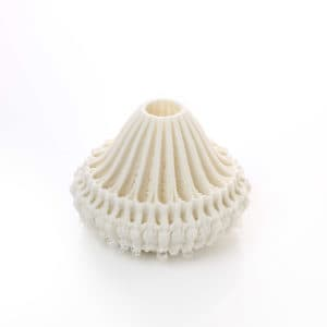 Filigree of Porcelain: Boat, 2020 Unique object made by 3D printing in porcelain