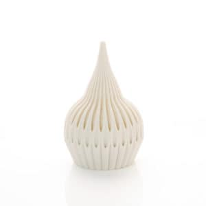 Filigree of Porcelain: Tear, 2020 Unique object made by 3D printing in porcelain