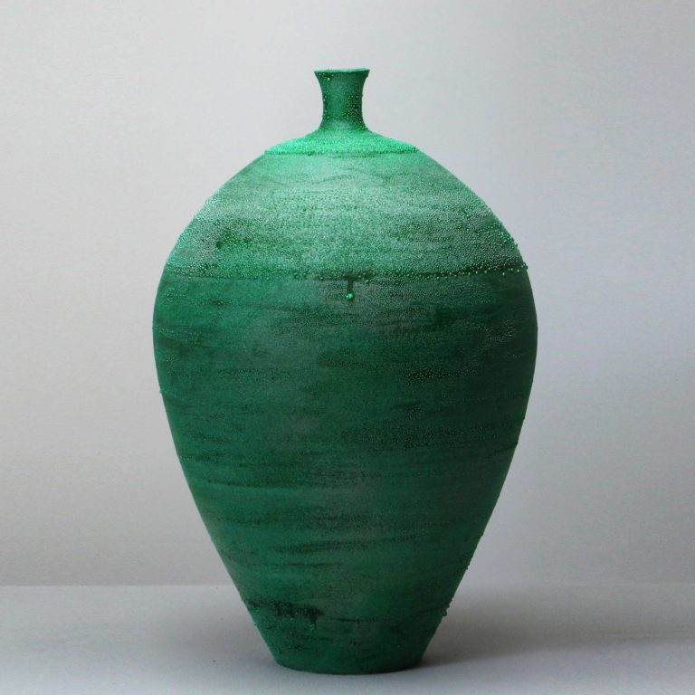 Takahiro Kondo Green Mist, 2020 Porcelain with silver mist over-glaze Made by the artist in Japan