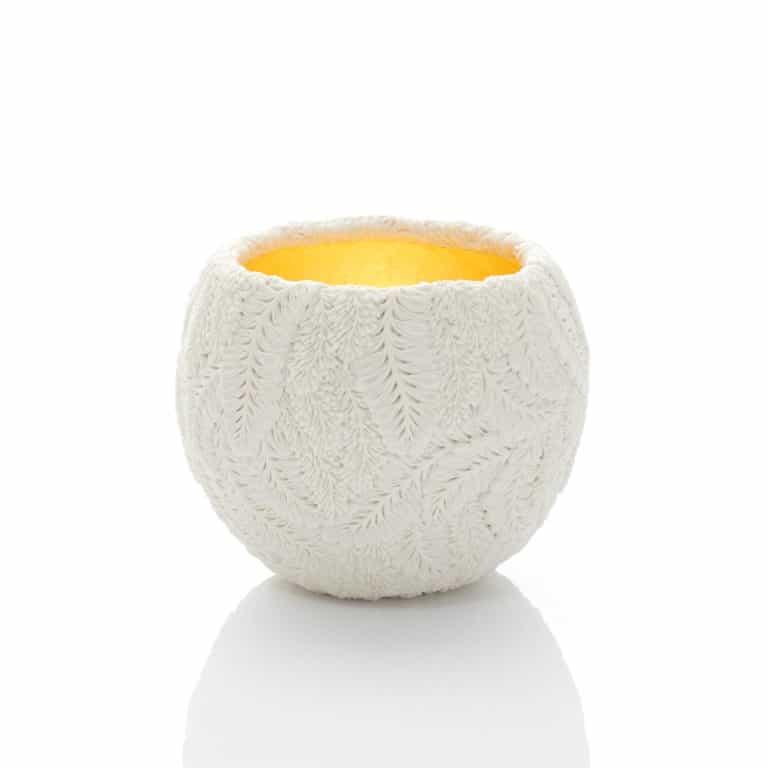 Gilded vase by Hitomi Hosono