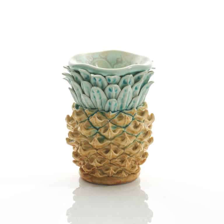 Pineapple sculpture by Kate Malone
