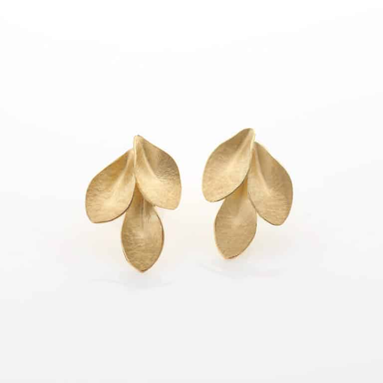 Three Leaves Earrings, 2020 by Kayo Saito