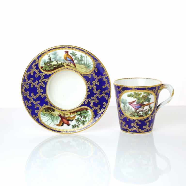 A Sèvres Cup & Deep Saucer, 1763