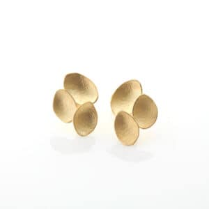 Kayo Saito Small Petal Earrings, 2020 18ct gold