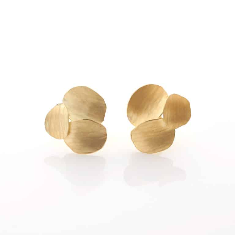 Kayo Saito Three Ripple Elements Earrings, 2020 18ct gold